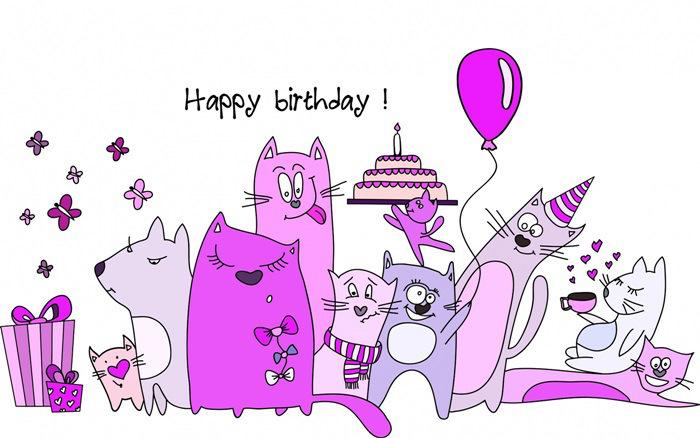 Открытки с рисунками с днем рождения