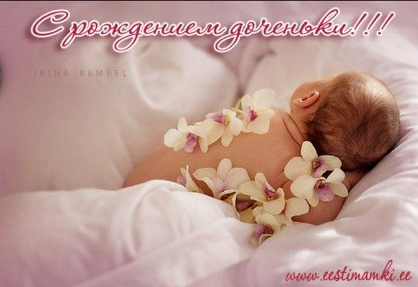 Фото новорожденной девочки поздравления