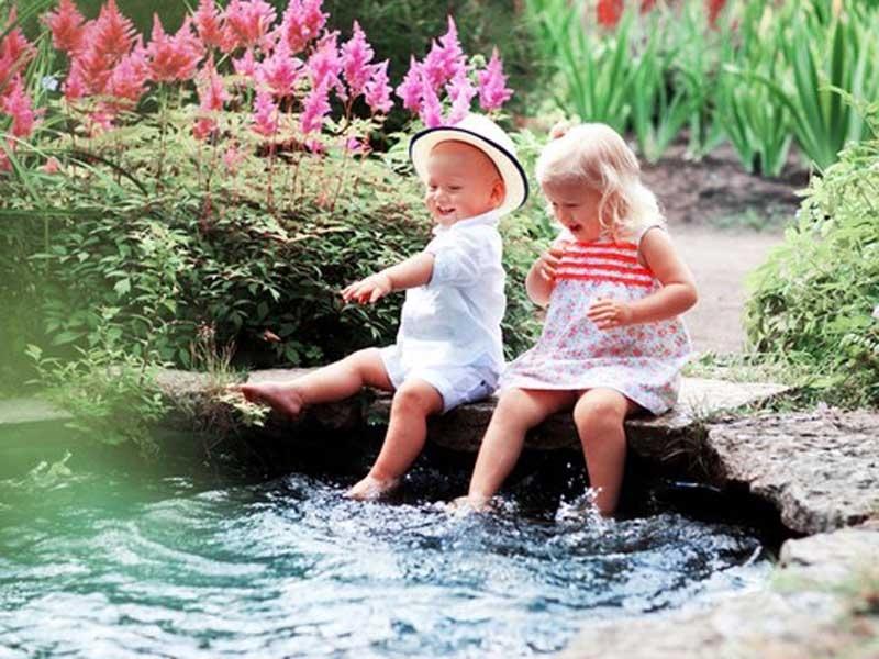 Как сделать красивые на природе с ребенком