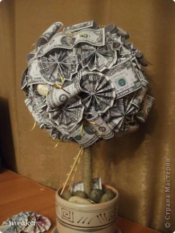 Сделать денежное дерево своими руками из бумажных купюр