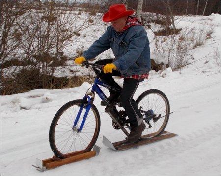 Велосипед с лыжей своими руками