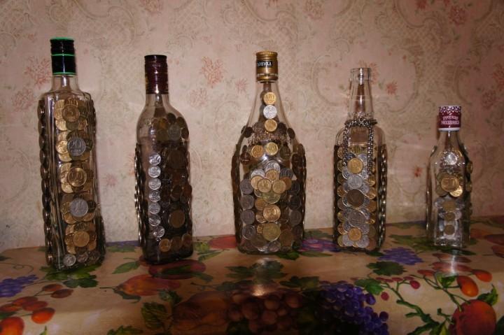 Денежные бутылки своими руками