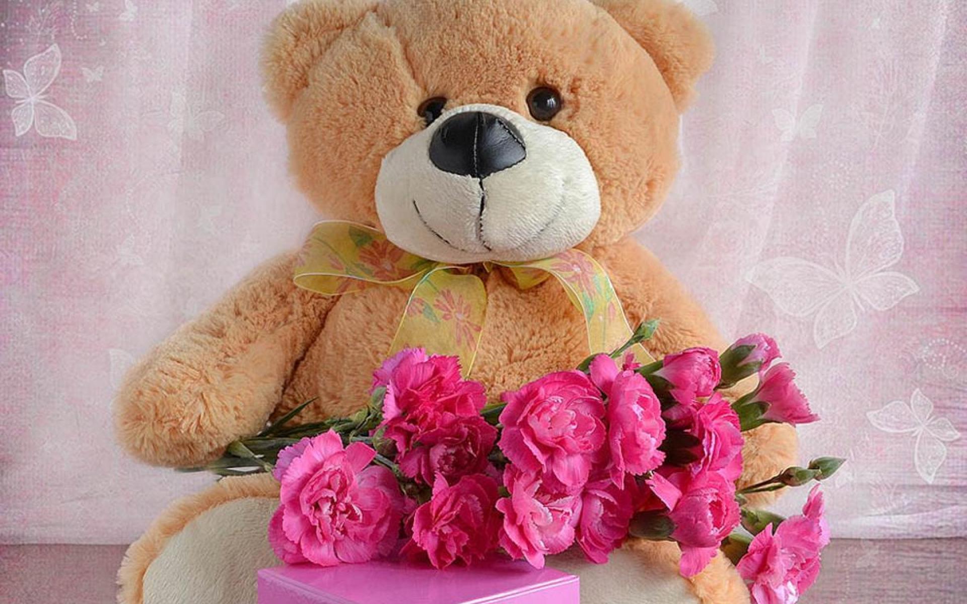 Поздравления с днем рождения картинки с мишкой, цветов для раскрашивания