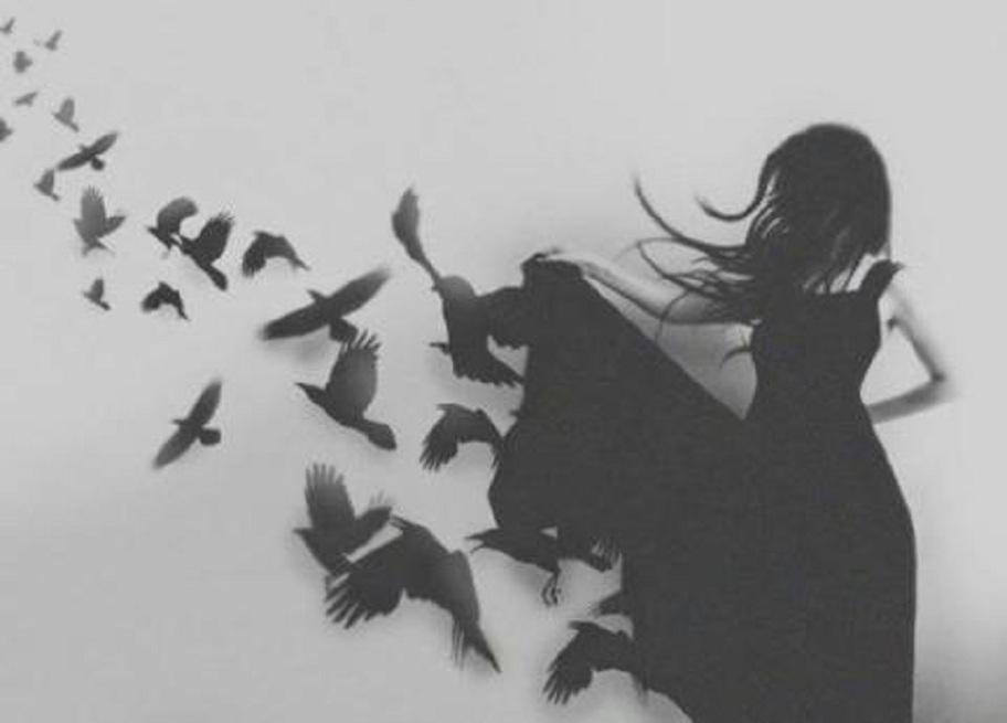 это черно белые картинки птицы из спины данной