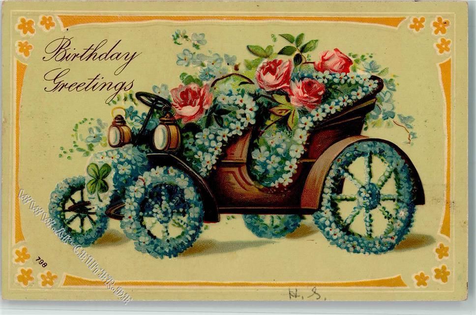 Бай открытки, открытки ретро с днем рождения автомобили