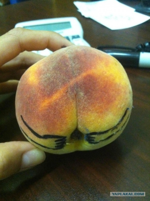 Днем рождения, персики прикольная картинка