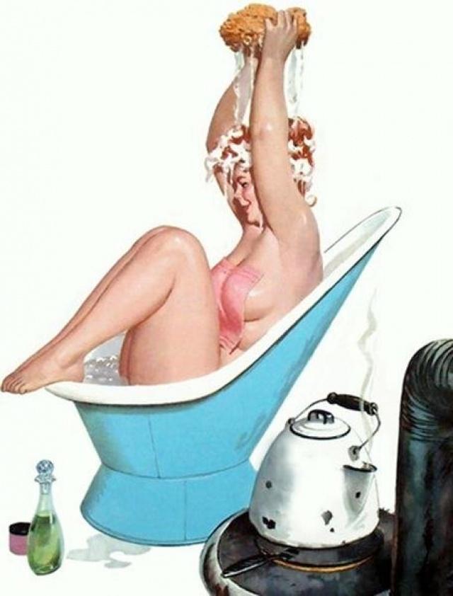 Рисунки веселых голых женщин