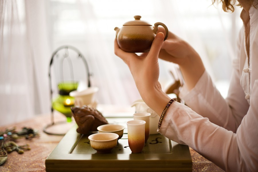satisfaction of tea Sometimes, after people take a sip of hot coffee or tea and send it down their throat, they make this sound originating from the front of their mouth something like aaah — exhaling a little steam.